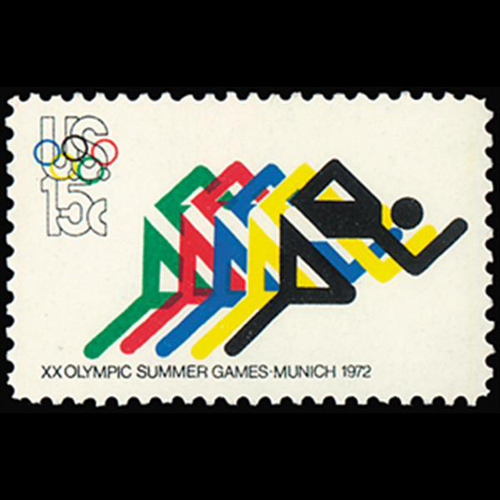 1972 15c 6c Olympics-Foot Racing Mint Single