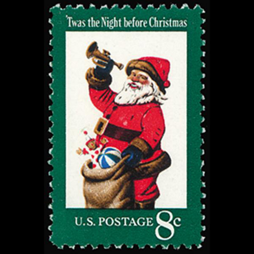 1972 8c Christmas-Santa Claus Mint Single