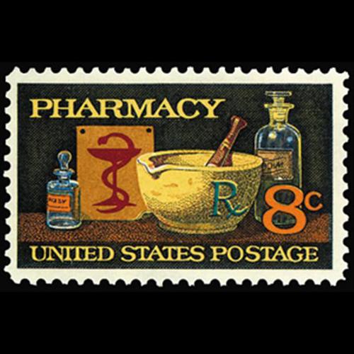 1972 8c Pharmacy Mint Single