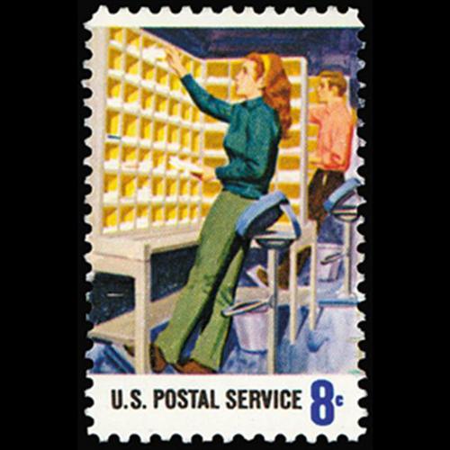 1973 8c Manual Sorting Mint Single