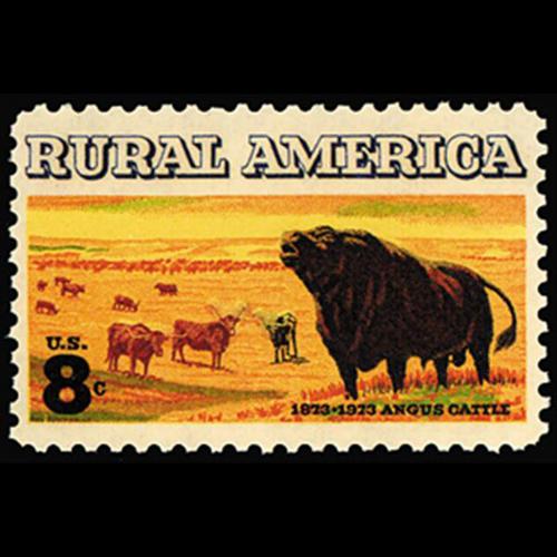 1973 8c Angus Cattle Mint Single