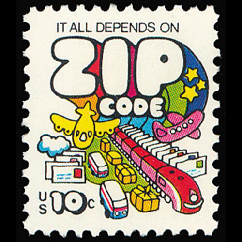 1974 10c Zip Code Theme Mint Single
