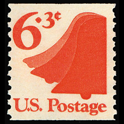 1974 6.3c Liberty Bell Mint Single