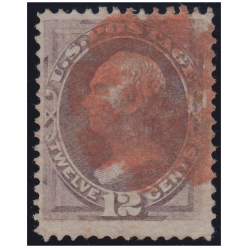 1870 12c Dull Violet w/o Grill Used Red Cancel