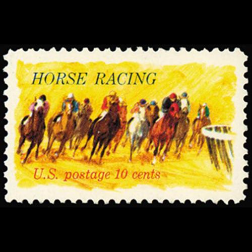 1974 10c Horse Racing Mint Single