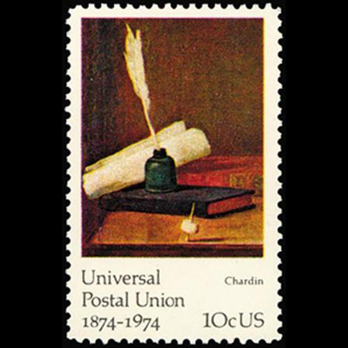 1974 10c J.B.S. Chardin Mint Single