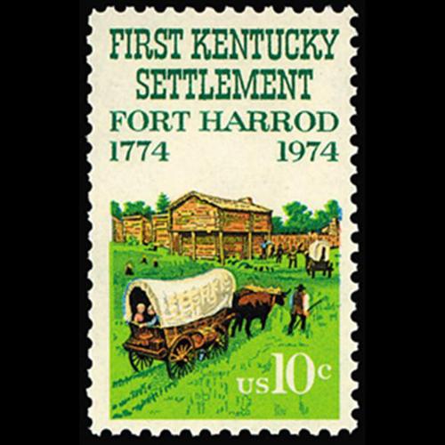 1974 10c Fort Harrod Bicentennial Mint Single