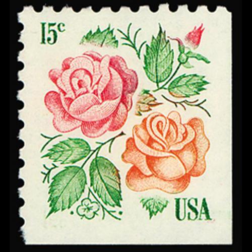 1978 15c Roses Mint Single