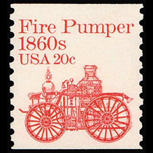 1981 20c Fire Pumper Mint Single