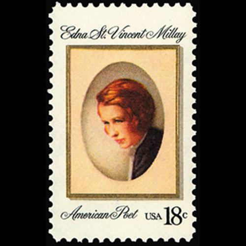 1981 18c Edna St. Vincent Millay Mint Single