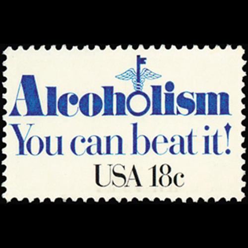 1981 18c Alcoholism Mint Single
