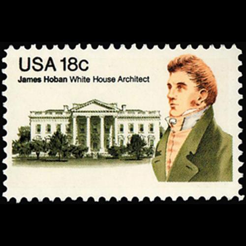 1981 18c James Hoban Mint Single