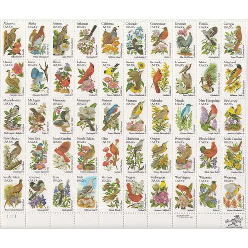 1982 State Birds & Flowers Mint Sheet