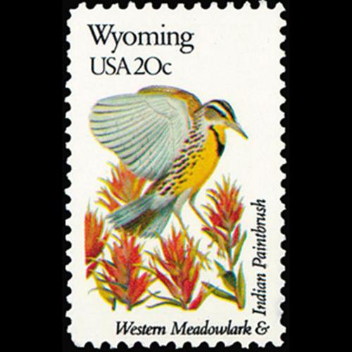 1982 20c Wyoming Mint Single