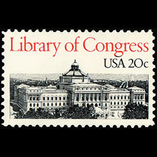1982 20c Library of Congress Mint Single