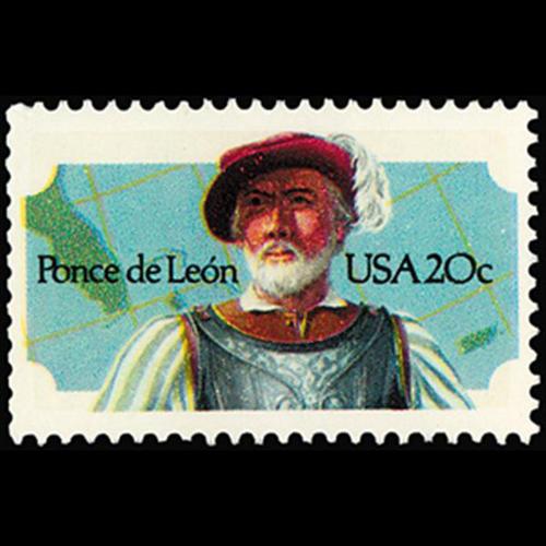 1982 20c Ponce de Leon Mint Single