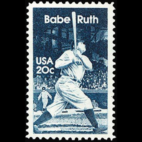 1983 20c Babe Ruth Mint Single