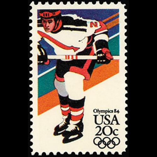 1984 20c Hockey Mint Single
