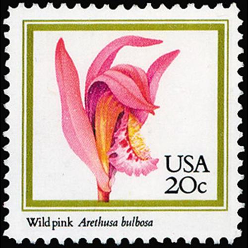 1984 20c Wild Pink Mint Single