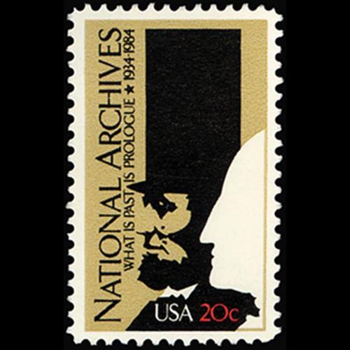 1984 20c National Archives Mint Single