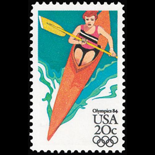 1984 20c Women's Kayak Mint Single