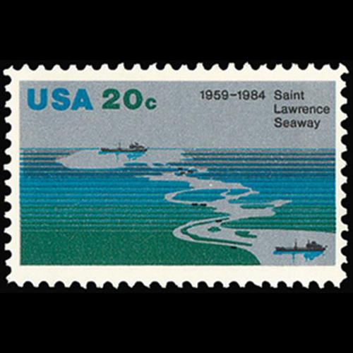 1984 20c St. Lawrence Seaway Mint Single