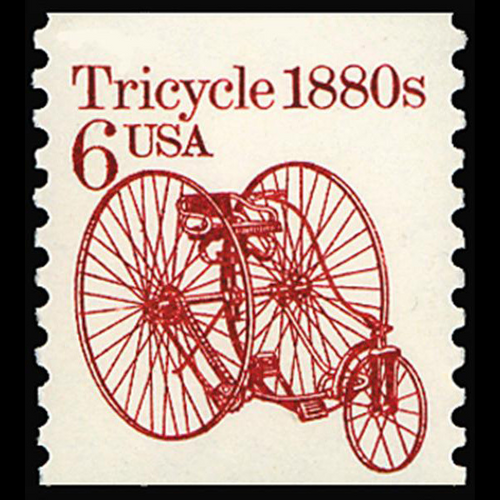 1985 6c Tricycle Mint Single