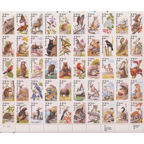 1987 Wildlife Mint Sheet