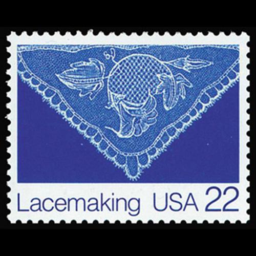 1987 22c Lace Ruth Maxwell Mint Single