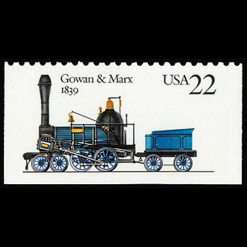 """1987 22c """"Gowan + Marx 1839"""" Mint Single"""