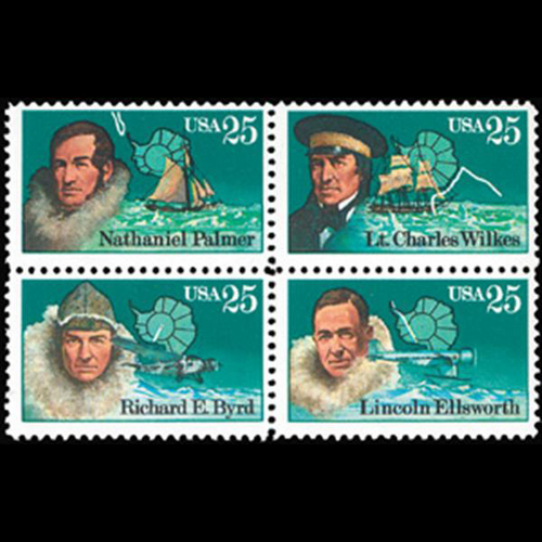 1988 25c Antarctic Explorers Mint Block