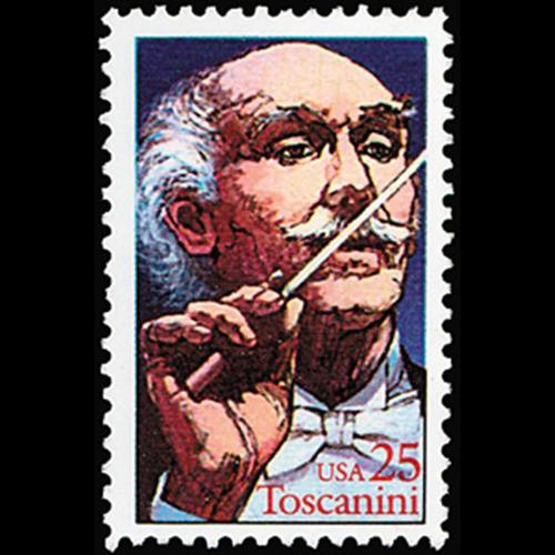 1989 25c Arturo Toscanini Mint Single