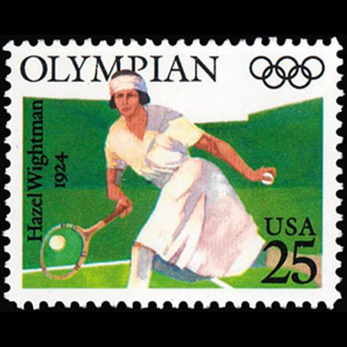 1990 25c Hazel Wightman Mint Single