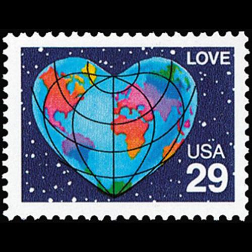 1991 29c Love Mint Single