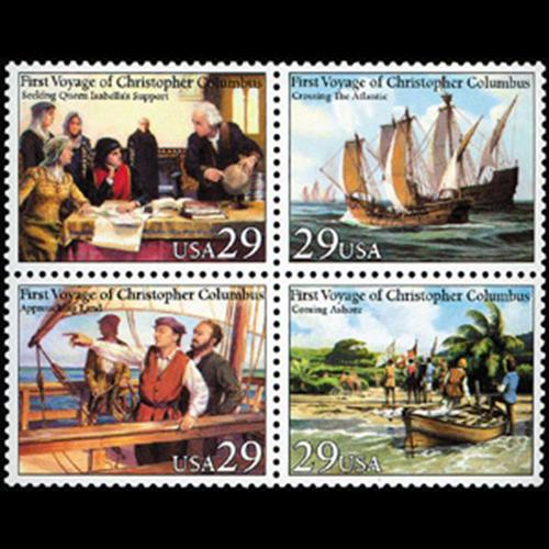 1992 29c First Voyage of Columbus Mint Block