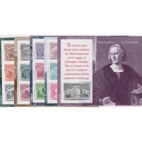 1992 Voyage of Columbus Mint Souvenir Sheet Set