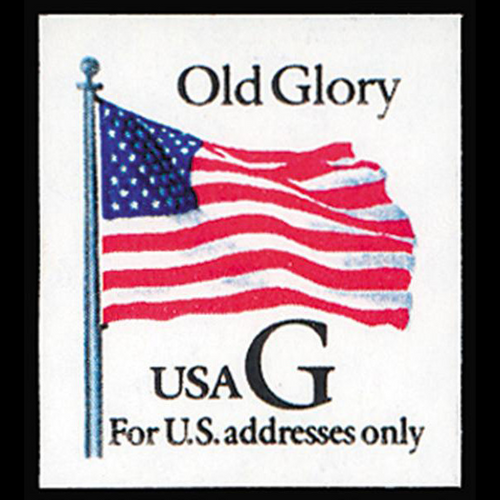 "1994 32c ""G"" Old Glory Bklt Mint Single"