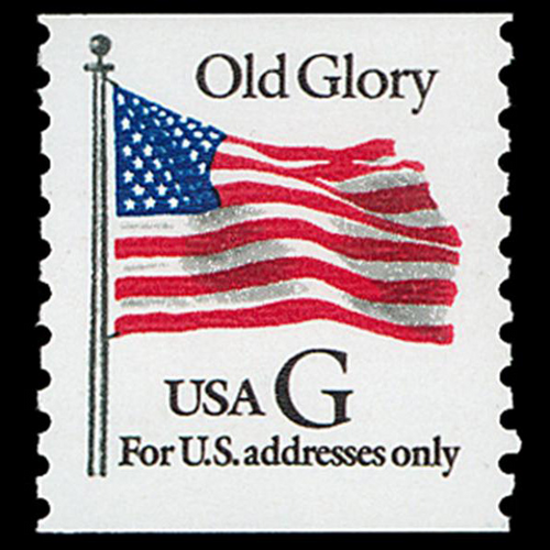 "1994 32c ""G'' Old Glory Coil (BEP, Black ""G"") Mint Single"