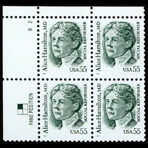 1995 55c Alice Hamilton Plate Block