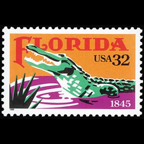 1995 32c Florida Statehood Mint Single