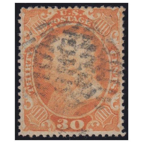 1860 Franklin 30c Orange Used