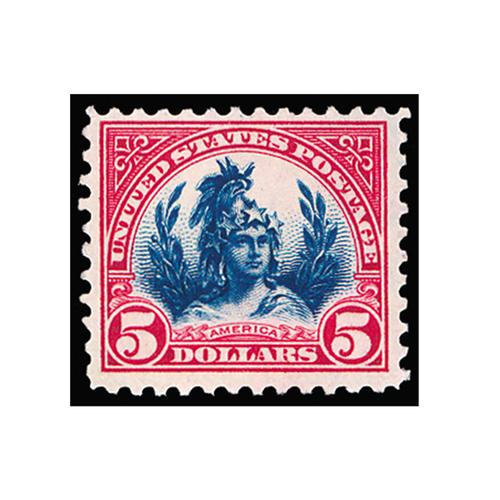 1923 $5 America Lady Liberty, Fine Mint OG