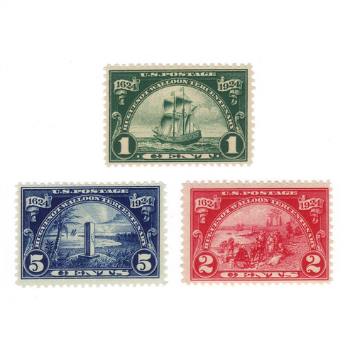 1924 Huguenot-Walloon Issue, Mint NH