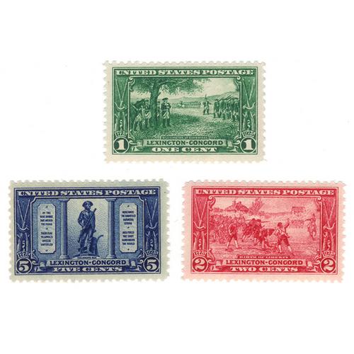 1925 Lexington-Concord Issue, Mint