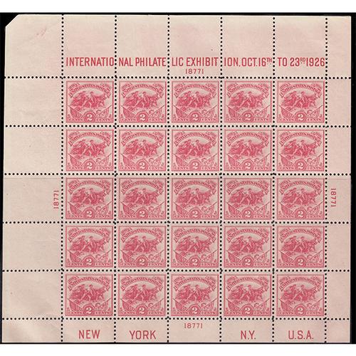 1926 White Plains Souvenir Sheet FVF NH