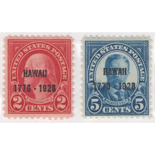 1928 Hawaii Sesquicentennial Issue, Mint