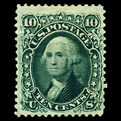 1861 10c Washington, VF Unused, Fresh