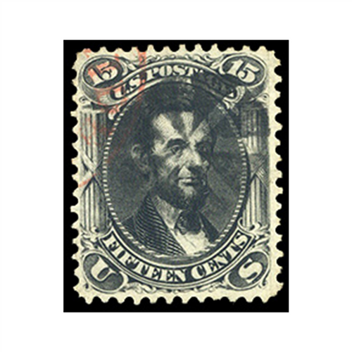 1866 15c Lincoln, Black, Used