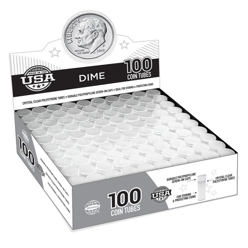 Dime Coin Tubes (100 Count)