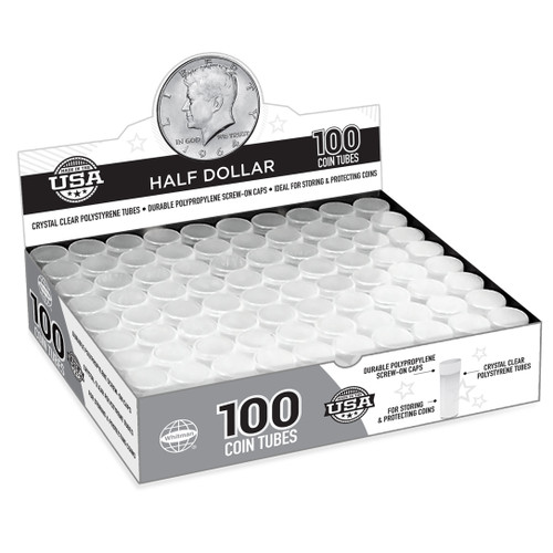 Half-Dollar Coin Tubes (100 Count)